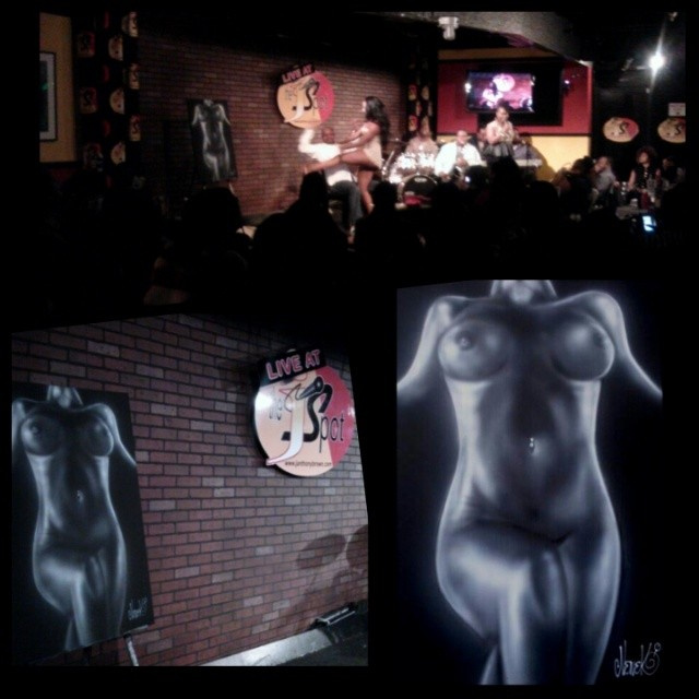"A Nude Study painted LIVE at the JSpot for ""Verbal Orgasm"". Original 24""x36"" painting"