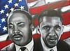 "King / Obama"" The Original painting by NENEKI 30""x40"" (SOLD)"