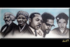 """Freedom Fighters"" Original painting on a 15x30 inch canvas"