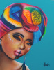 Headwrap #5 16x20 inch Print on stretched Canvas