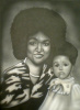 Custom hand painted B/W  Portrait on a 24x36 inch canvas (Single person or Family Portrait)